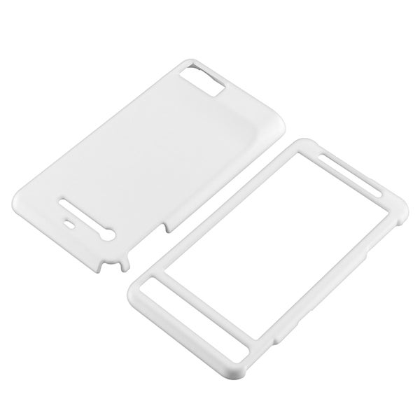 INSTEN White Rubber Coated Phone Case Cover for Motorola Droid MB810/ Droid X2 Daytona