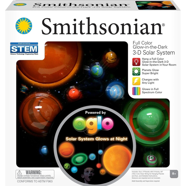 Smithsonian 3D Glowing Solar System Set (Glowing Solar sy...