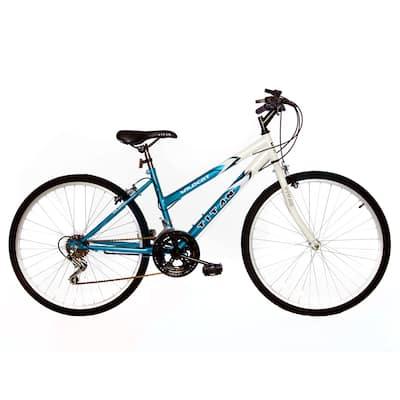 Titan Wildcat Women's 18-Speed Mountain Bike, White & Teal
