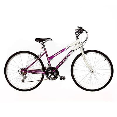 Titan Wildcat Women's 18-Speed Mountain Bike, White/ Lavender