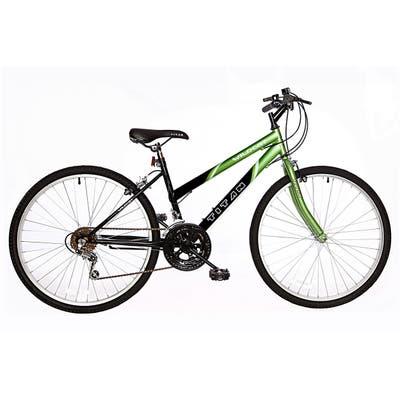 Titan Wildcat Women's 18-Speed Mountain Bike, Lime Green & Black