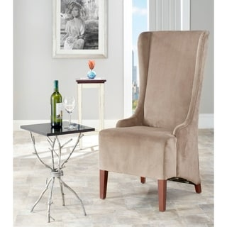 Safavieh En Vogue Dining Deco Bacall Velvet Dark Minky Grey Side Chair