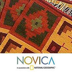 Set of 4 Handmade Wool 'Pukio' Placemats (Peru) - Thumbnail 1