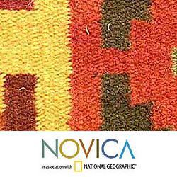 Set of 4 Handmade Wool 'Pukio' Placemats (Peru) - Thumbnail 2