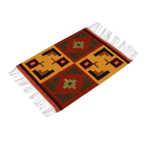 Set of 4 Handmade Wool 'Pukio' Placemats (Peru)