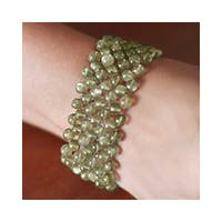 Handmade Labradorite 'Mystical Muse' Stretch Bracelet (India)