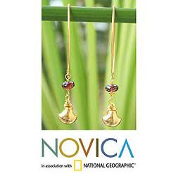 Gold Vermeil 'Bright Berry' Garnet Earrings (Thailand)