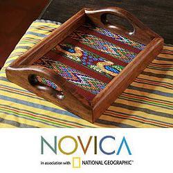 Wood and Cotton 'Maya Ducklings' Serving Tray (Guatemala)
