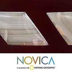 Mohena Wood 'Natural Harmony' Onyx Mirror Frame (Peru)