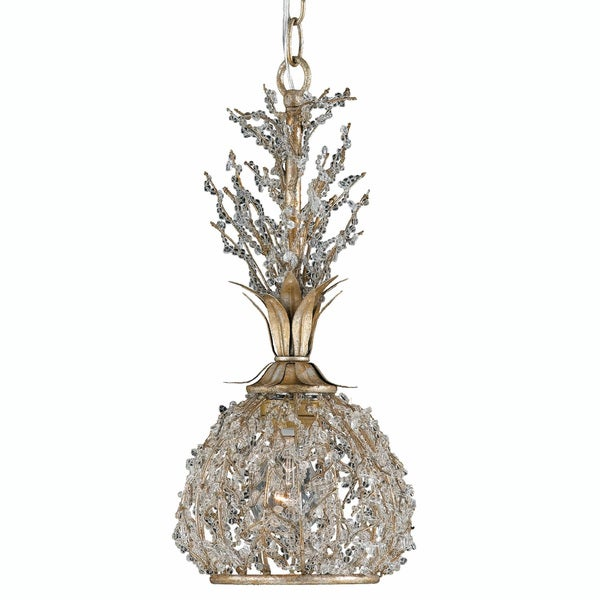 Garland 1-light Gold and Silver Leaf Mini-pendant Light