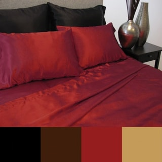 Luxury Solid Color Satin Sheet Set