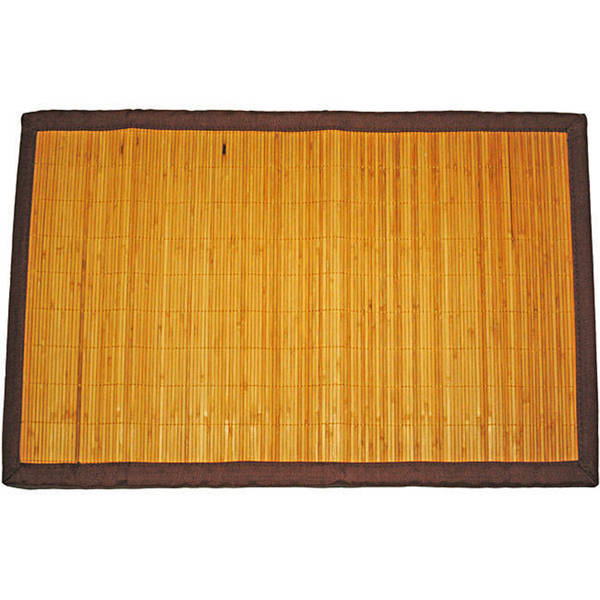 Asian Hand-woven Thin Natural Stripe Rayon from Bamboo Rug (1'8 x 2'7)