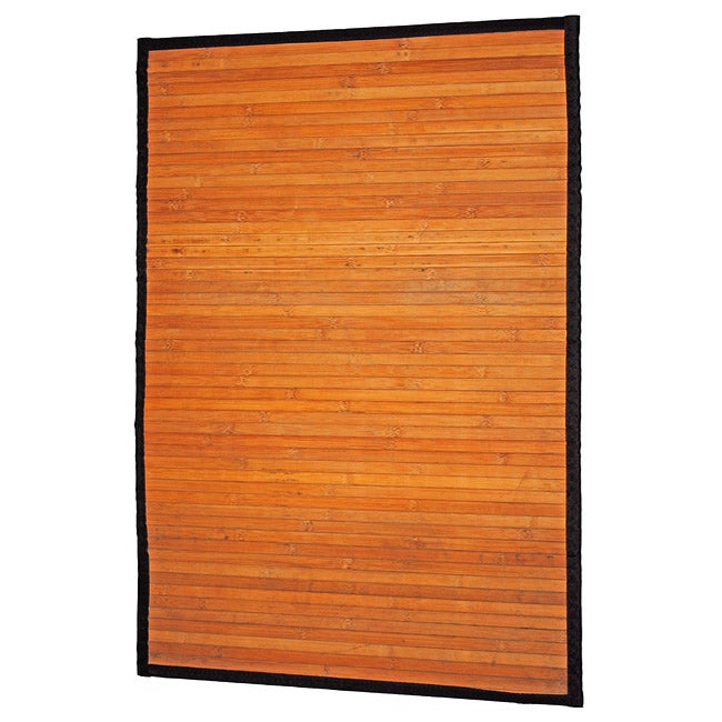 Asian Hand-woven Natural Stripe Rayon from Bamboo Rug (2' x 3')