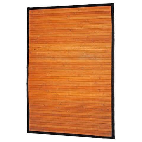 Handmade Natural Stripe Rayon from Bamboo Rug