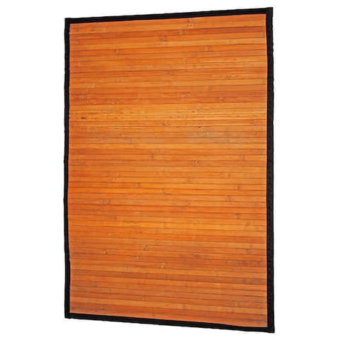 Handmade Natural Stripe Rayon from Bamboo Rug - 2' x 3'