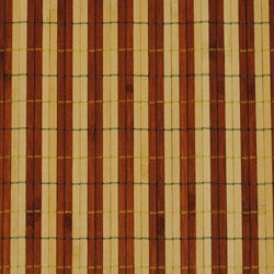 Asian Hand-woven Dark/ Light Stripe Rayon from Bamboo Rug (2' x 3') - Thumbnail 2