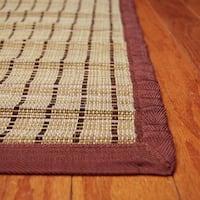 Handmade Asian Hand-woven Brown Threaded Rayon from Bamboo Rug - 2' x 3'