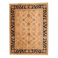 """Herat Oriental Indo Hand-knotted Mahal Wool Rug (8'9 x 11'7) - 8'9"""" x 11'7"""""""
