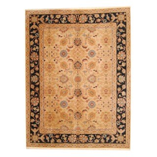 Herat Oriental Indo Hand-knotted Mahal Wool Rug (8'9 x 11'7)