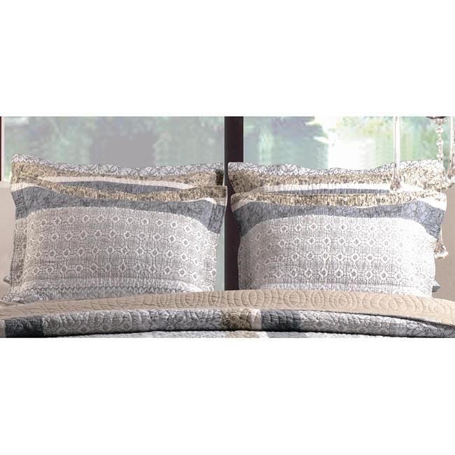 Greenland Home Fashions Soho King-size Pillow Shams (Set of 2)
