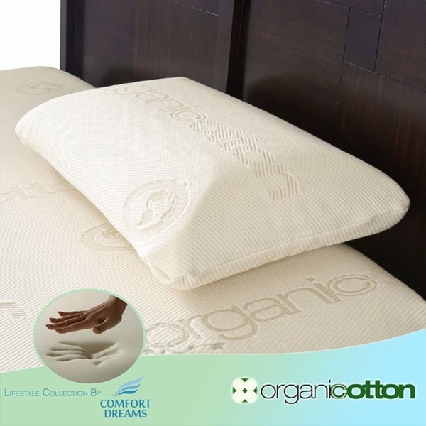 Comfort Dreams Cotton Standard-size Memory Foam Pillow
