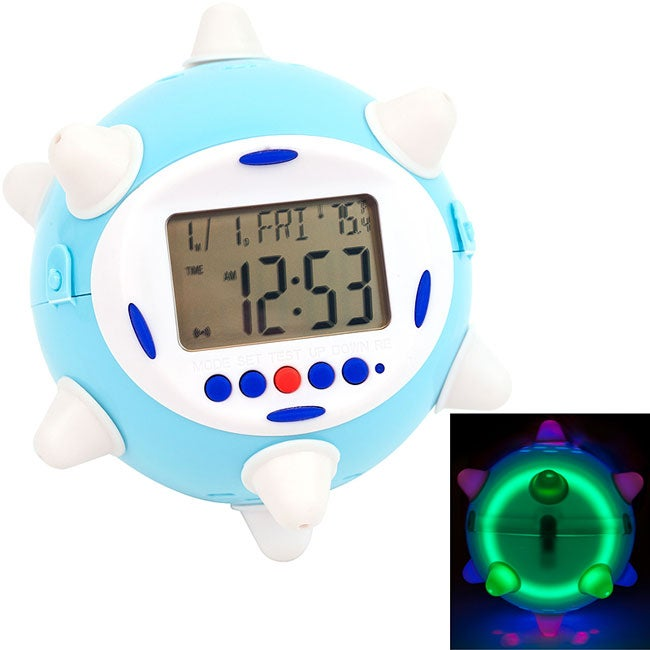 Jumping Bouncing and Light-up Alarm Clock with Readable LED Display