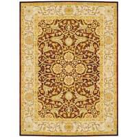 Handmade Herat Oriental Indo Wool Rug (India) - 8' x 11'