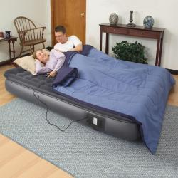 Air Cloud Pillowtop w/Remote 11-inch Queen-size Air Bed - Free ...