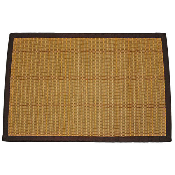 Asian Hand-woven Striped Rayon from Bamboo Rug (2' x 3')