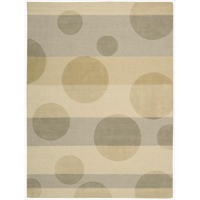 Nourison Elements Sand Wool Rug (5'6 x 7'5)