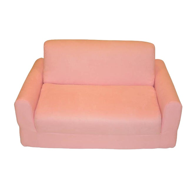 Fun Furnishings Pink Micro Suede Sofa