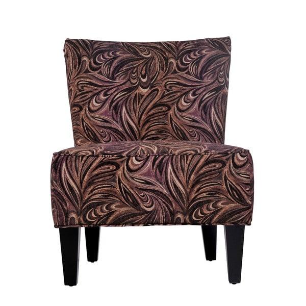 Shop Portfolio Hali Mocha Brown Paisley Armless Chair