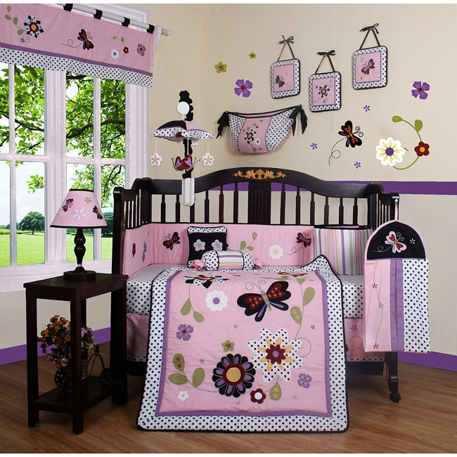 Geenny Daisy Garden 13-piece Crib Bedding Set