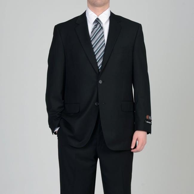 Adolfo Men's Black 2-button Suit