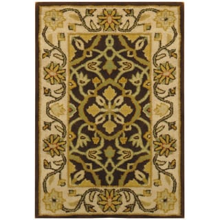Herat Oriental Indo Hand-tufted Oushak Wool Rug (2' x 3')