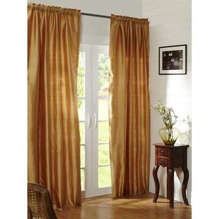 Cottage Home Mallory Dupioni Silk 84-inch Single Curtain Panel - 52 x 84
