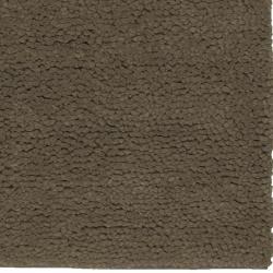 Hand-woven Washington Olive Wool Rug (5' x 8') - Thumbnail 2