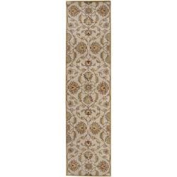 Hand-tufted Stage Gold Wool Rug (2'6 x 8')
