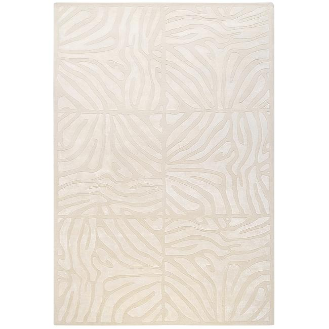 Hand-tufted Ivory Zebra Animal Print Branstad Wool Rug (8' x 11')
