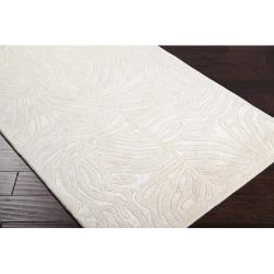 Hand-tufted Ivory Zebra Animal Print Branstad Wool Rug (8' x 11') - Thumbnail 1