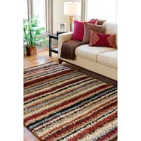 Palm Canyon Sandspring Woven Barbour Striped Area Rug - 7'10 x 10'10