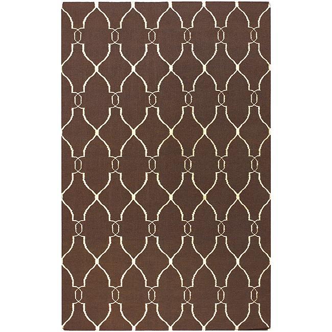 Hand-woven Providence Brown Wool Rug (3'6 x 5'6)