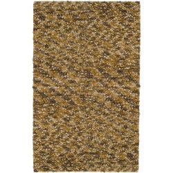 Hand-hooked Hayward Gold Wool Rug (5' x 8')
