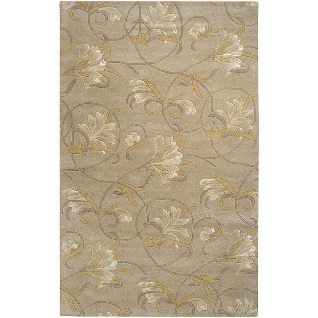 Hand-tufted Mitch Beige Wool Rug (5' x 8')