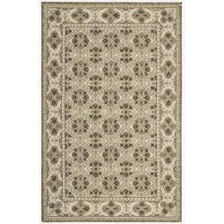 Nourison Hand-hooked Brown Country Heritage Rug (2'6 x 4'2)