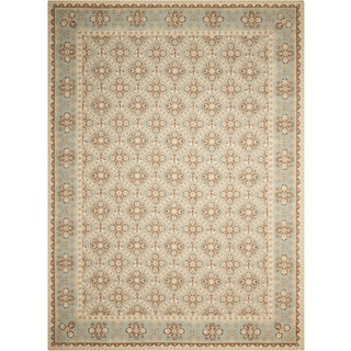 Nourison Hand-hooked Sky Blue Country Heritage Rug (2'6 x 4'2)