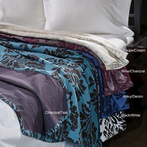 Havana Reversible Twin-size Cotton Blanket