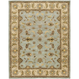 Safavieh Handmade Heritage Timeless Traditional Light Blue/ Beige Wool Rug (9'6 x 13'6)