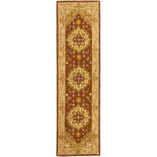 Safavieh Handmade Heritage Timeless Traditional Rust/ Gold Wool Runner (2'3 x 4')