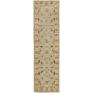 Safavieh Handmade Heritage Timeless Traditional Light Blue/ Beige Wool Runner (2'3 x 14')
